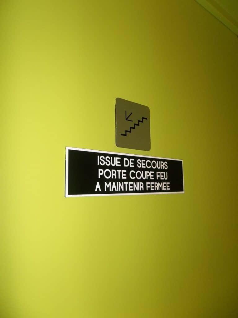 Plaque de signalétique PVC 3 mm - Stade du Hainaut / Valenciennes