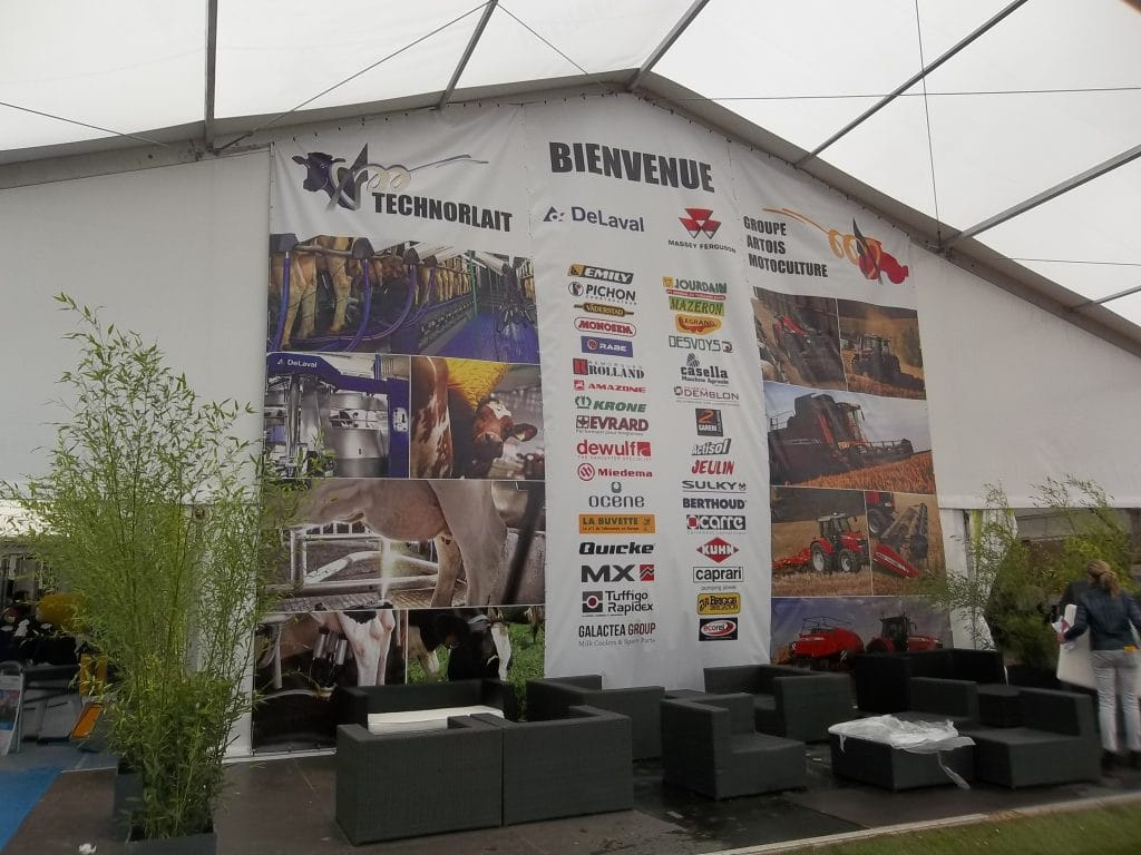 Bâche XXL - Artois motoculture - Technorlait / Ste Catherine