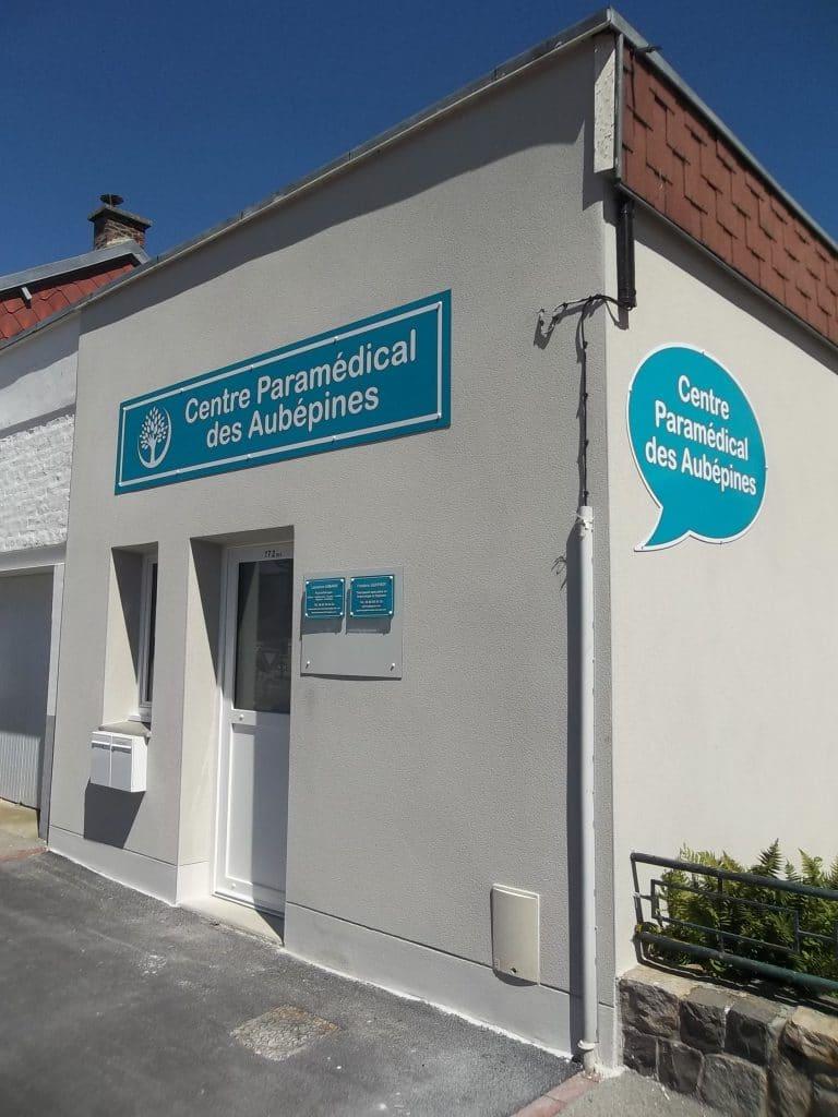 Enseigne en dibond avec DAO - Cabinet paramédical des Aubépines - Sainte-Catherine