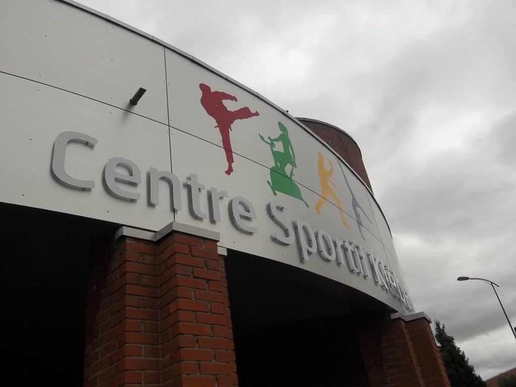 Lettres découpées en Dibond - Centre sportif Kleber / Faches-Thumesnil