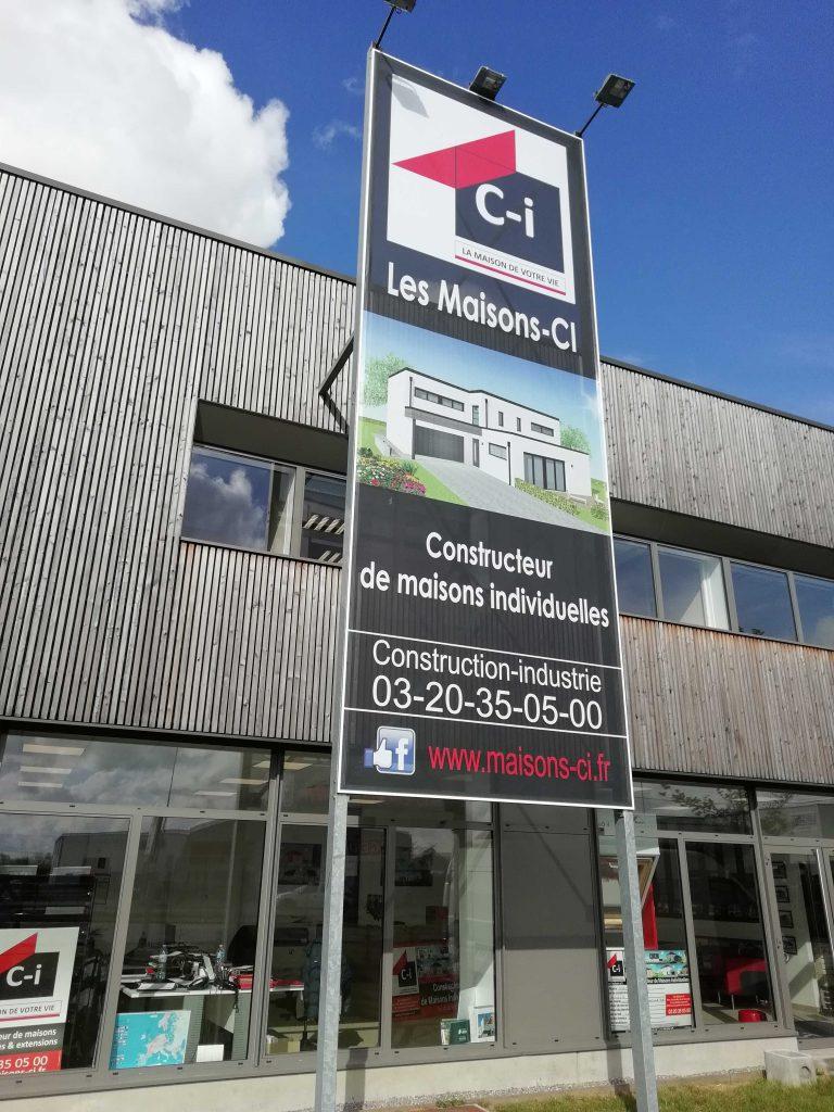 Toile tendue extérieure - Les Maisons-ci / La Chapelle-d'Armentières