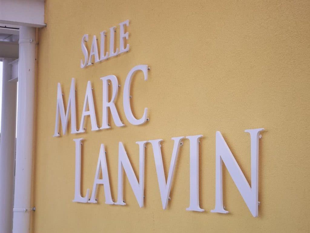 Lettres découpées en PVC 5 - Salle Marc Lanvin / Liévin