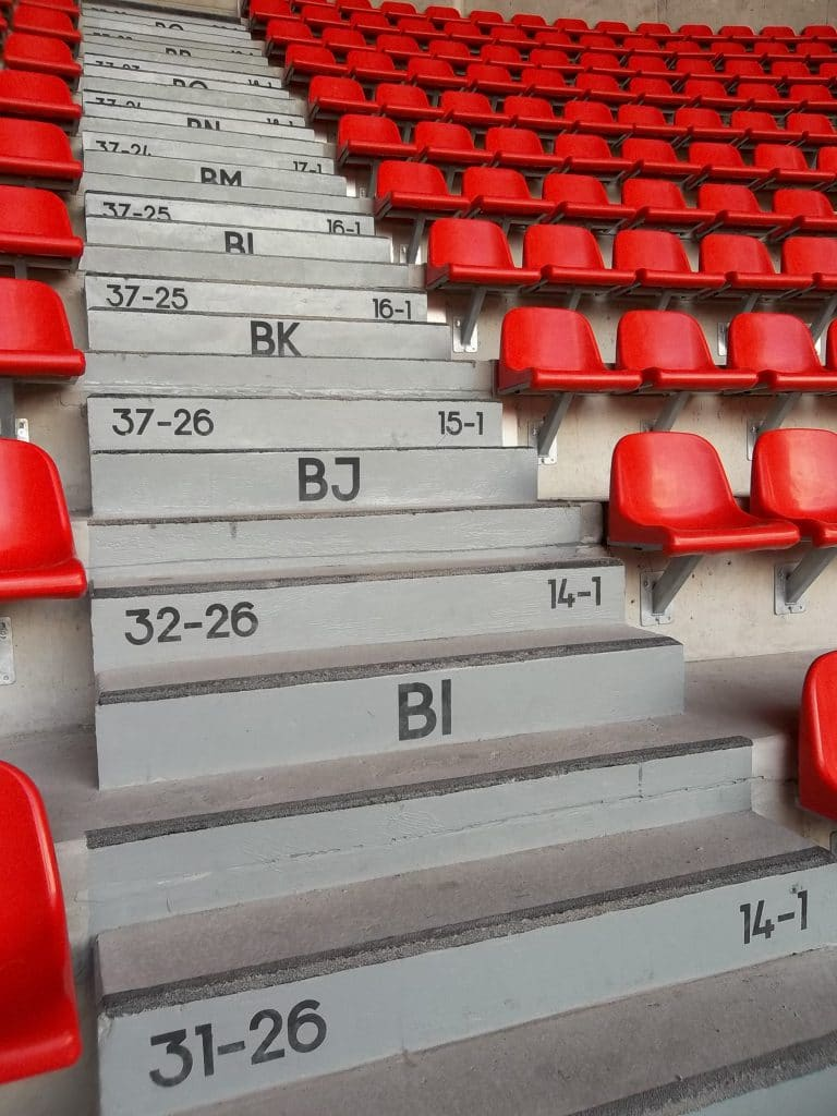 Marquage en peinture - Stade du Hainaut / Valenciennes