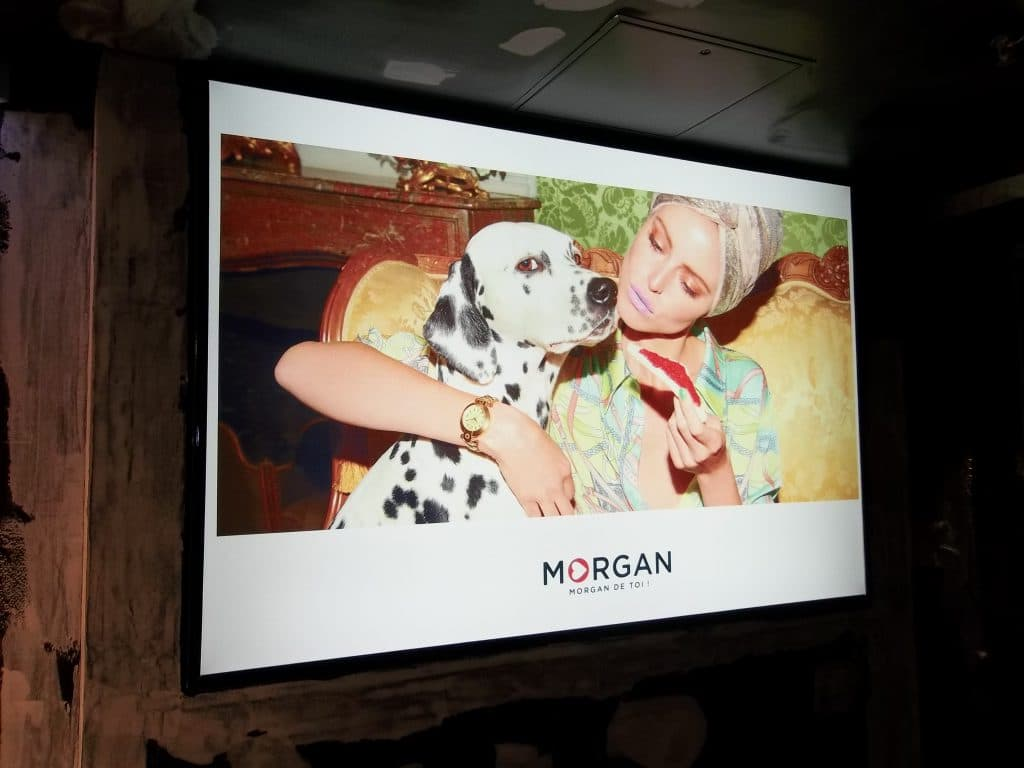 Toile tendue intérieure avec caisson lumineux - Morgan /