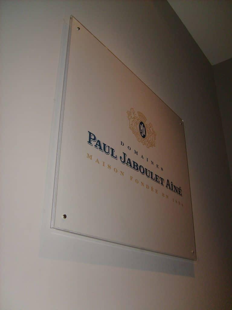 Plaque avec impression numérique - Domaine Paul Jaboulet Aîné / La Roche-de-Glun