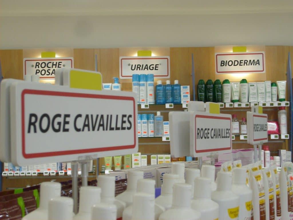 Plaquette en PVC avec impression numérique - Pharmacie