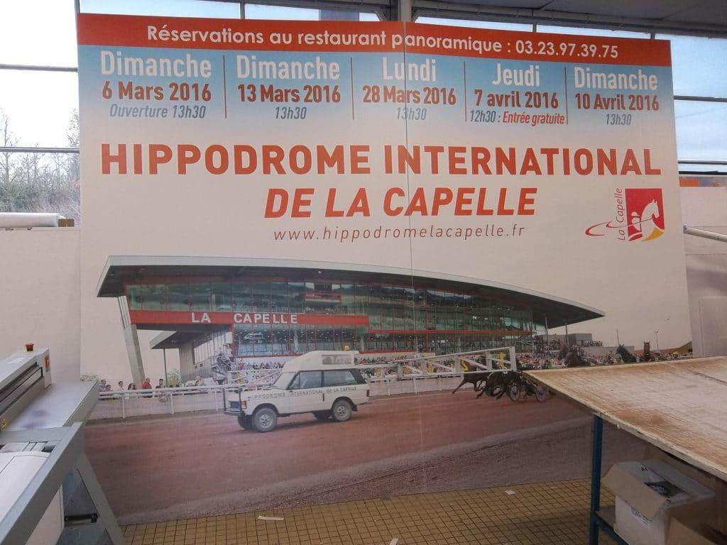 Impression direct sur Akyplac 4*3 M - Hippodrome international de La Capelle / La Capelle