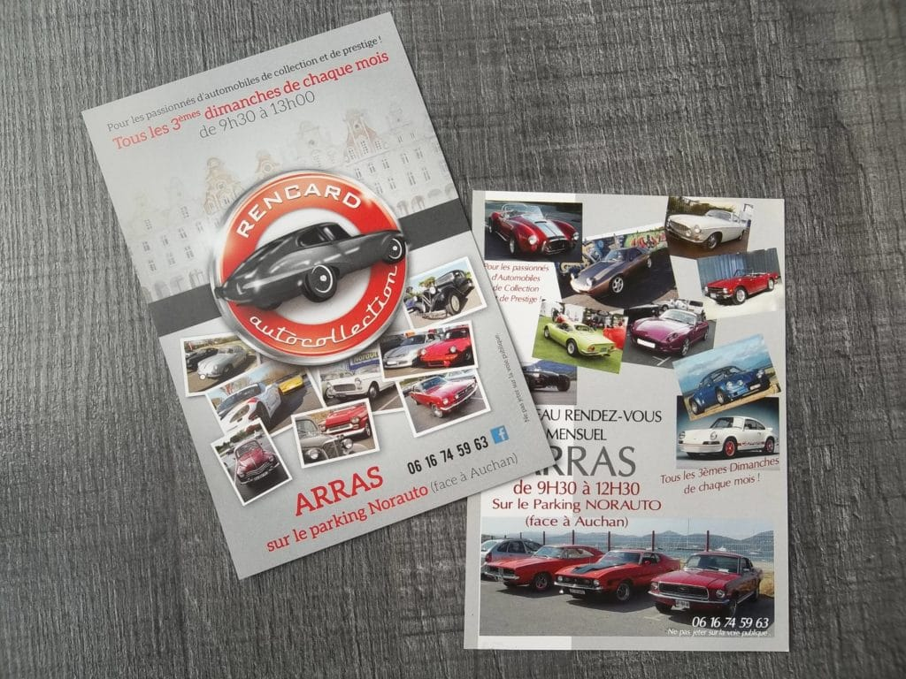 Flyers - Rencard auto collection / Arras